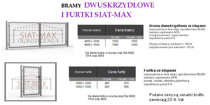 Bramy i furtki Siat-max